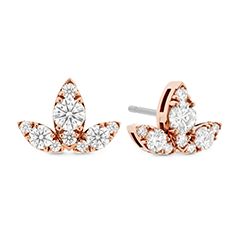 Aerial Triple Diamond Stud Earrings - L