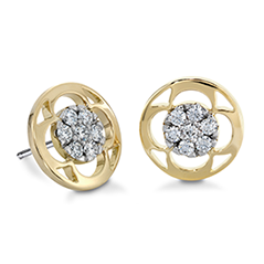 Copley Pave Stud Earrings