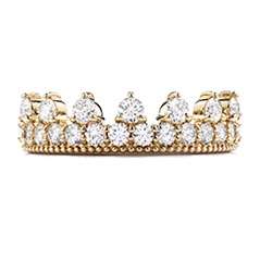Diamond Bar Beaded Crown Band