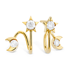 HOF Trend Charmed Star & Moon Earring