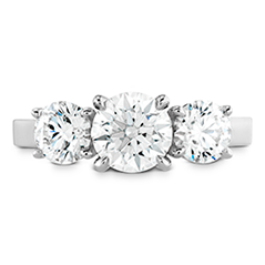 Illustrious Three Stone Engagement Ring