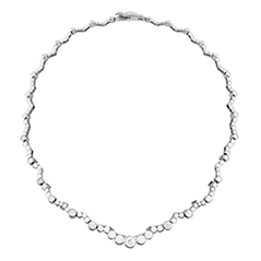 Lorelei Chandelier Diamond Line Necklace