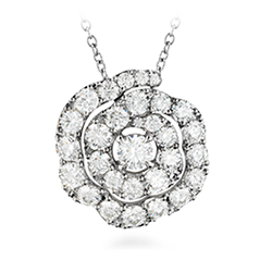 Lorelei Diamond Floral Pendant