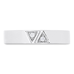 Triplicity Triangle Double Diam Band 4mm