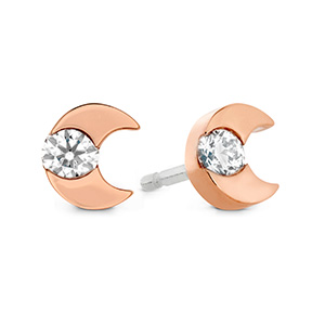 Charmed Half Moon Stud Earrings