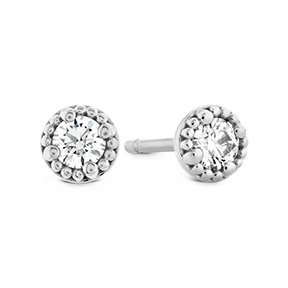 Liliana Milgrain Single Diamond Stud Earrings