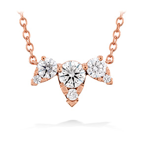 Aerial Triple Diamond Necklace