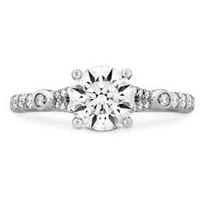 Cali Chic Petal Split Shank Engagement Ring