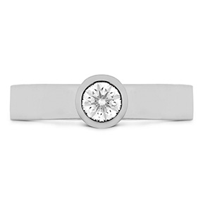 Distinguished Single Bezel Diamond Ring