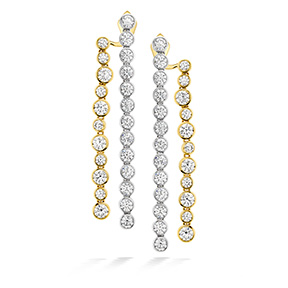 HOF Bezel Diamond Line Earrings