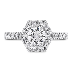 HOF Hexagonal Engagement Ring - Diamond Band