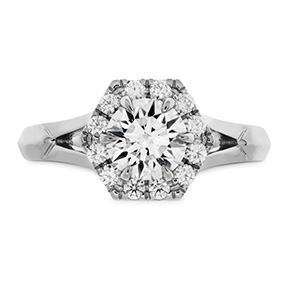 HOF Hexagonal Split Shank Engagement Ring