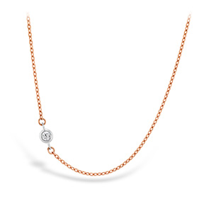 HOF Signature Off-Set Single Bezel Necklace