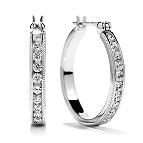 Milgrain Hoop Earrings