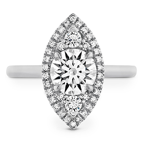 Juliette Marquise Halo Engagement Ring