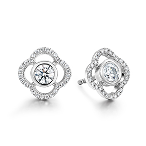Signature Petal Bezel Earrings