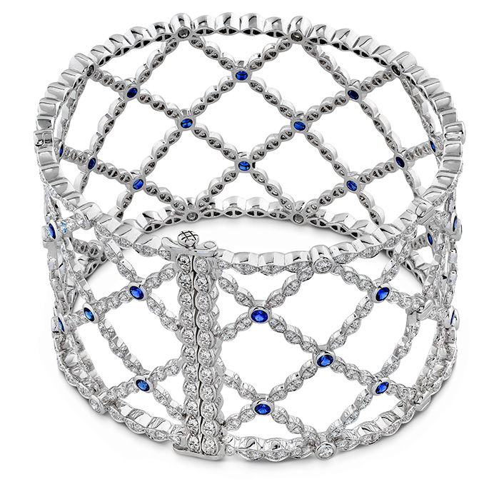 Lorelei Lattice Diamond and Sapphire Bangle